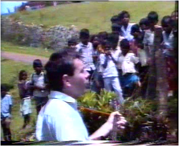 Ian preaching in S India, 1990