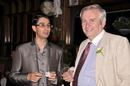 with rishi at a wedding 2012